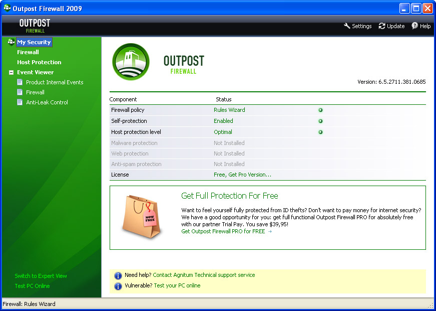 Outpost Firewall Free